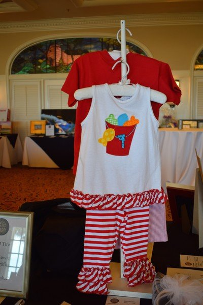 A portrait-worthy outfit donated by The Bailey Boys for the silent auction always attracts attention.