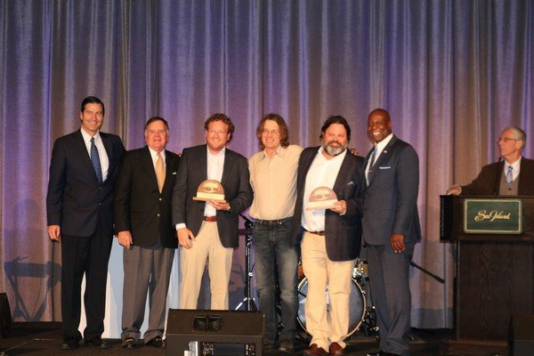 Community Spirit Award winners Halyards Restaurant Group and Southern Soul Barbeque