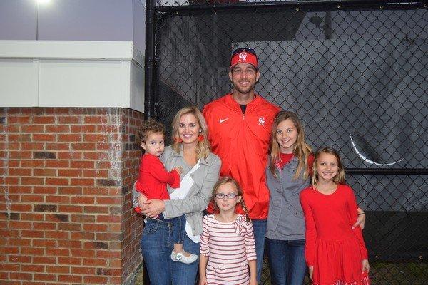 Adam Wainwright with his ladies, Sadee, Jenny, Macy James, Grace, and Morgan