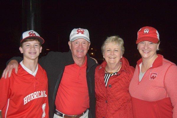 Spence Hartman, Jim and Pat Hill, Leslie Hartman