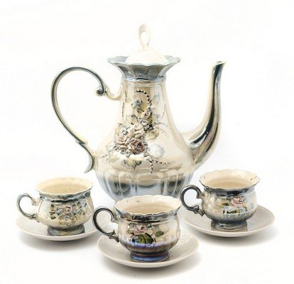 Tea set isolated
