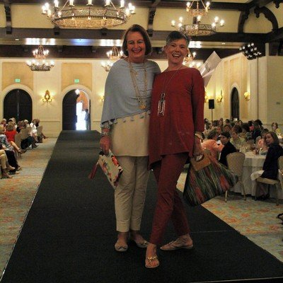 Ellen Robb and MJ Choate working the runway