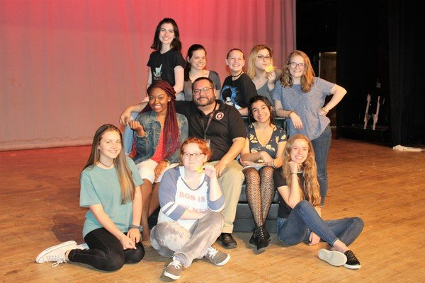 Girls cast with director Josh Sinyard.jpg