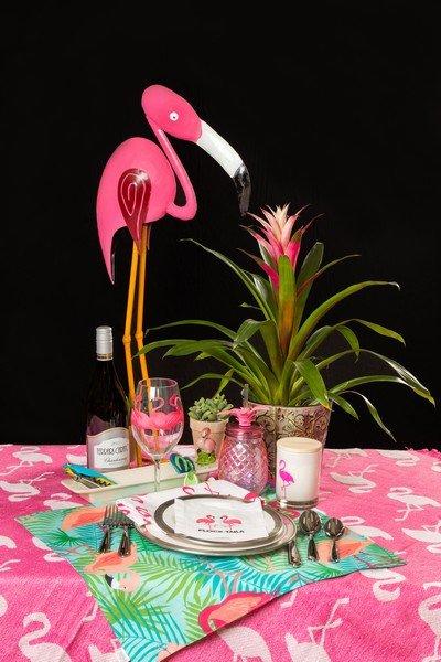 Seasons Supper Club Theme - Summer Flamingos