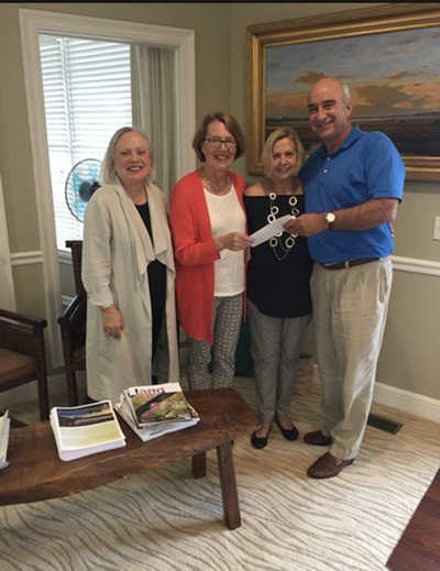 Check presentation from Live Oaks Garden Club to St. Simons Land Trust