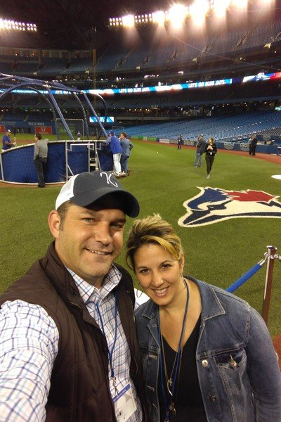 Chad and Tara Goehring at Rogers Center
