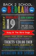 Back 2 School Bedlam fundraiser for Operation Bed Spread