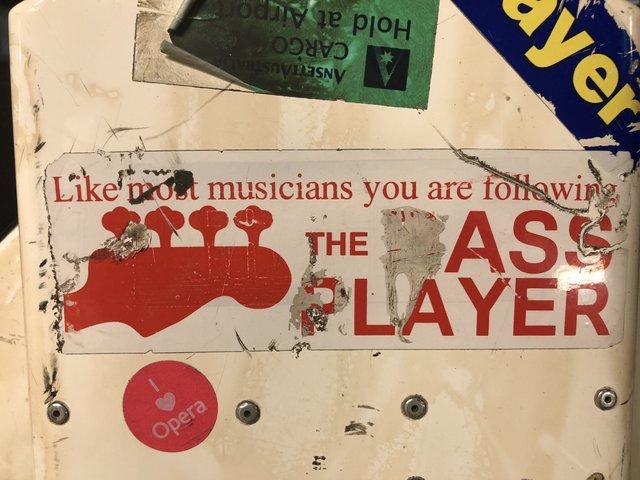 Bass Player Poster