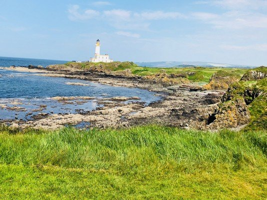 The Turnberry Lighthouse at the 9th Hole