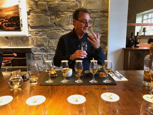 Don attending a Glenfiddich Master Tasting Class