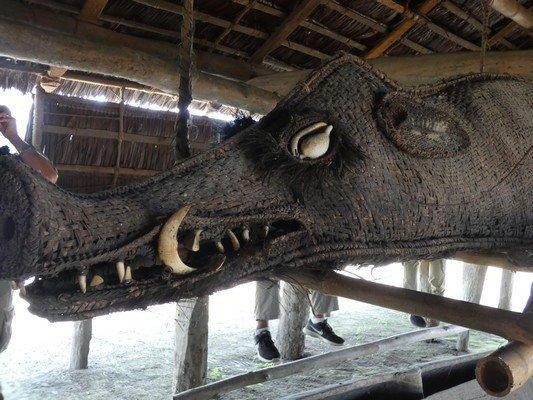 Inside Spirit House - woven boar