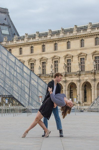 Students Dancing at The Louvre