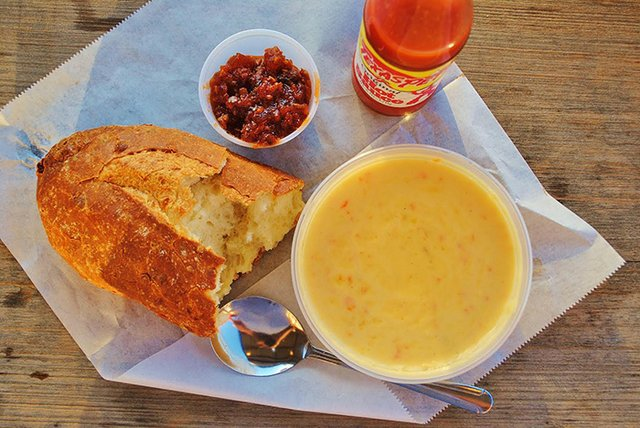 SSBQ PBR Beer Cheese Soup
