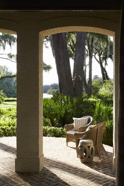 View from back porch of a Harrison Design home in Frederica.