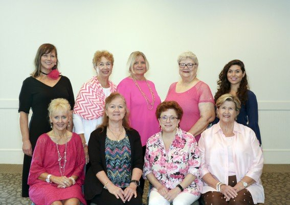 2018 ASC Luncheon and Fashion Show Committee: (from left, front row) Rhonda Barlow, Diann Clark, Kathleen Dawson, Joy Cook; (back row) Shannon McClure, Raylene Grynkewich, Jackie Mull, Peggy Tuten, Ingrid Bennett