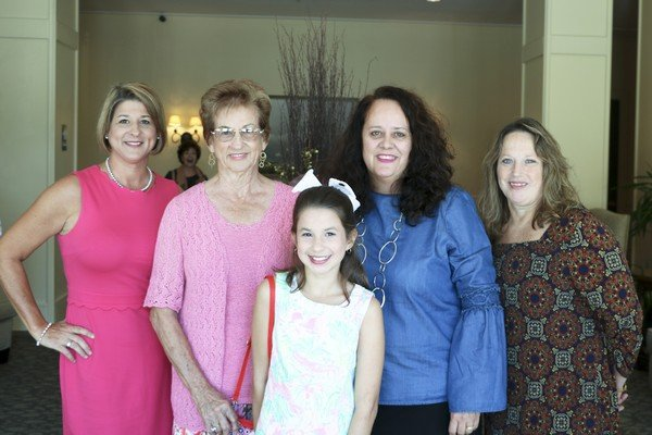Leah Hickox, Rosemary Strickland, Abby Hickox, Michelle Hall, Denise Spell