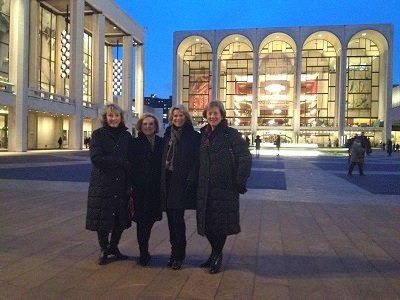 Outside Lincoln Center before the show