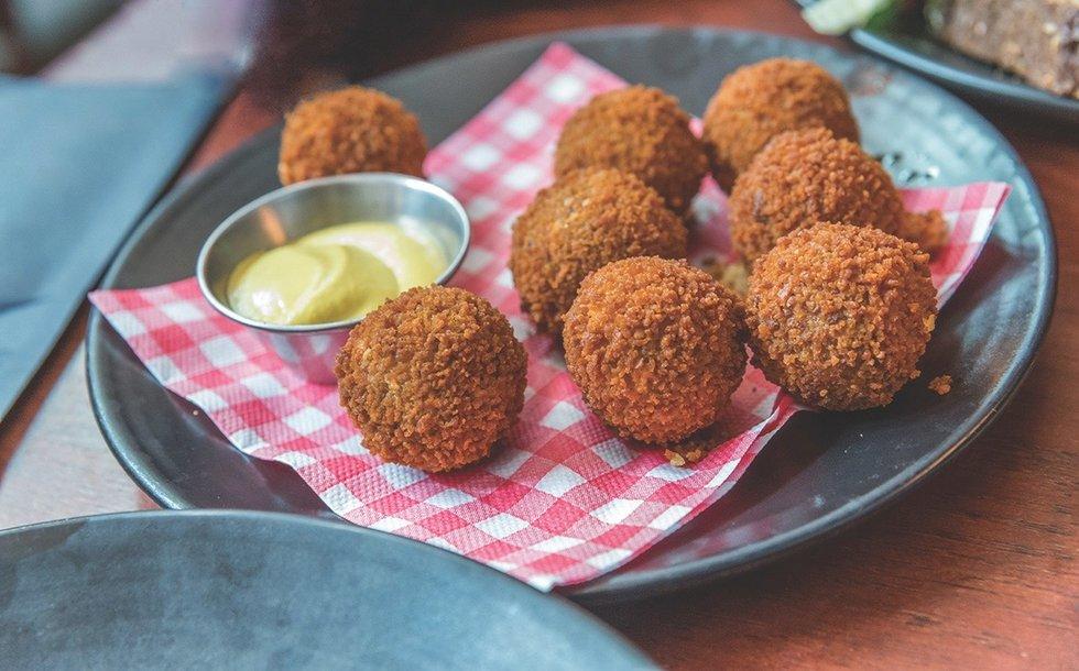 Bitterballen, a tasty Dutch snack