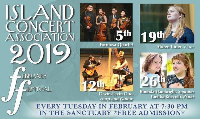 Island Concert Association February Festival 2019