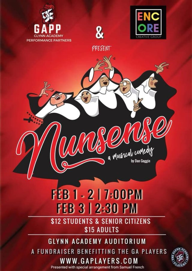 Nunsense to benefit Glynn Academy Players