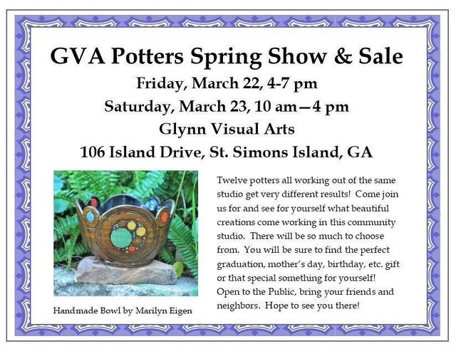 GVA Potters Spring Show and Sale
