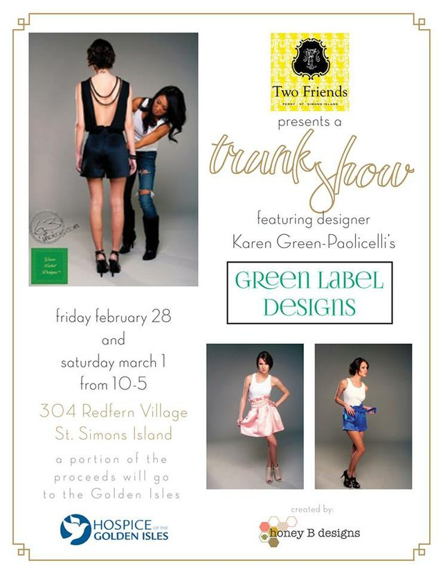 Two Friends Green Label Designs Trunk Show