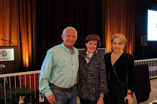 "Bert and Gail Flexer with Erin Napier, of the popular HGTV series ""Home Grown"""