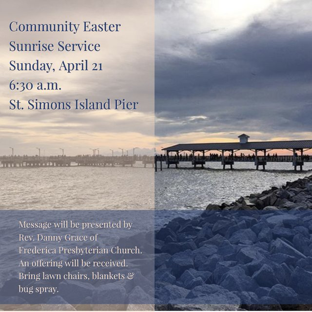 Easter sunrise service at the pier