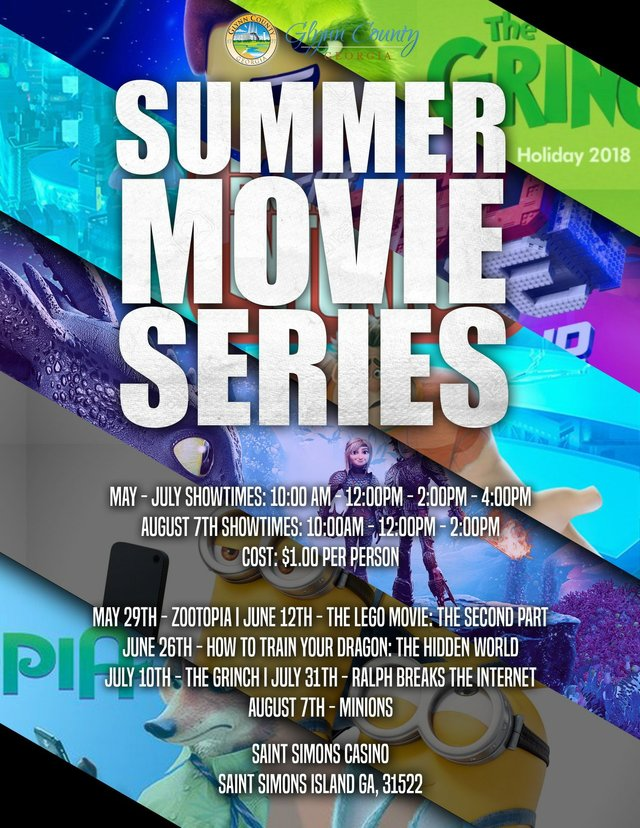SSI Summer Movie Series 2019