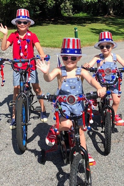 Kids on Bikes 4th of July