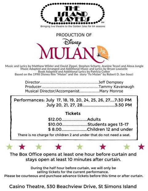 Mulan Jr poster
