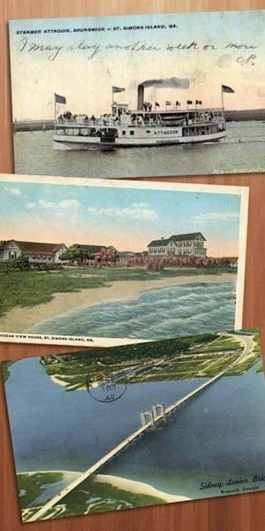 Vintage Golden Isles postcards