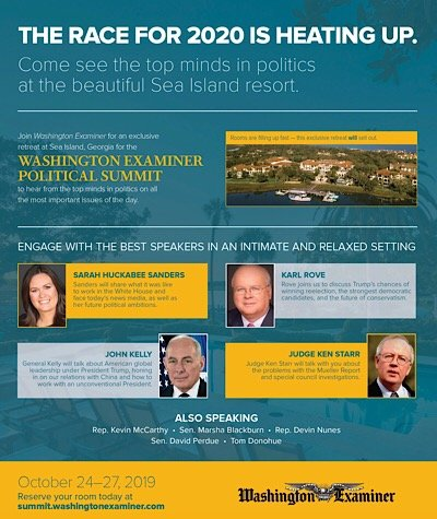 Washington Examiner Sea Island Political Summit 2019