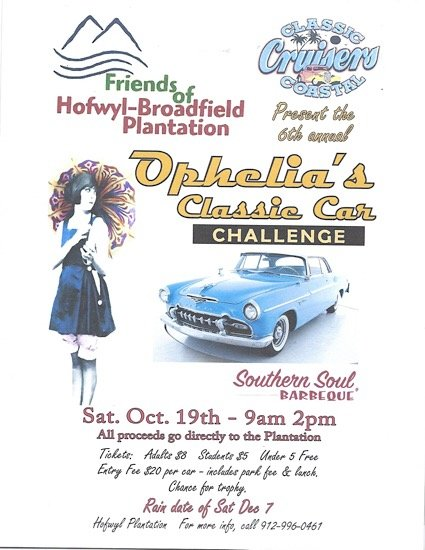6th Annual Ophelia's Classic Car Challenge