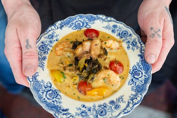 Shrimp and Grits plated