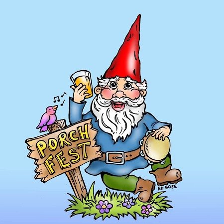 PorchFest Gnome by ED Hose