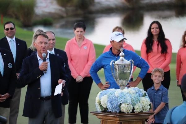 Davis Love III at 2018 Trophy Presentation