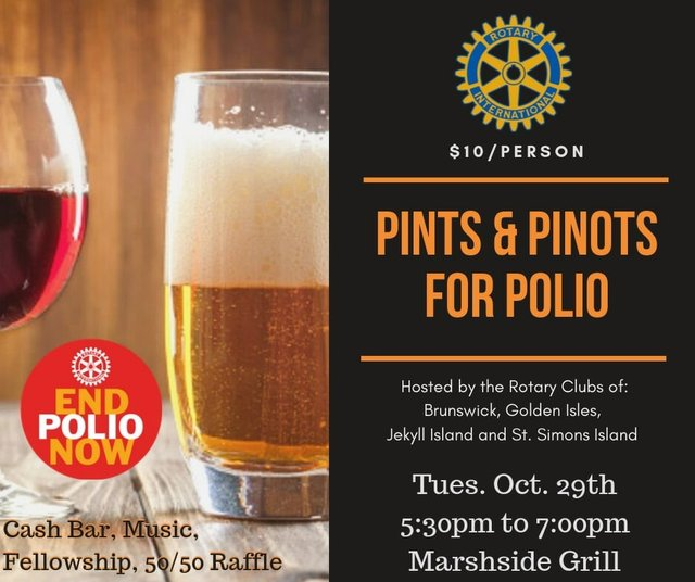 Pints and Pinot for Polio Rotary Benefit