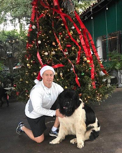 David and Bear Merry Christmas