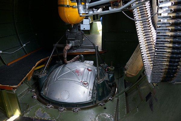 Aluminum Overcast interior Top of Ball Turret