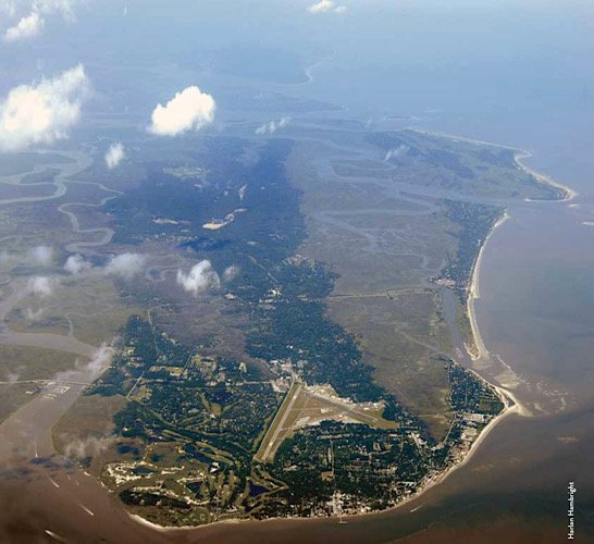 Aerial view of St Simons Island