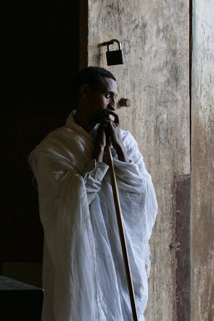 Ethiopian Orthodox Priest at Door