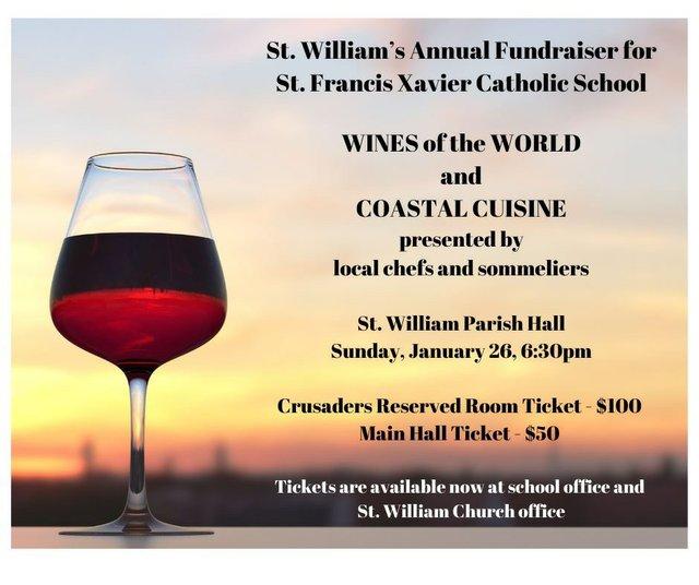 St Williams wine dinner