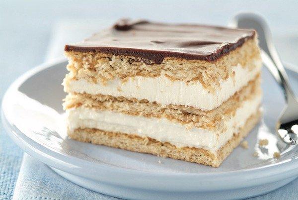 No Bake Eclair Squares