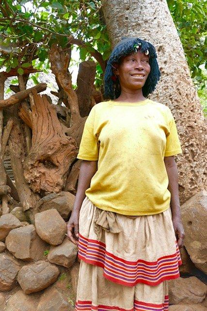 Konso woman tiered skirt