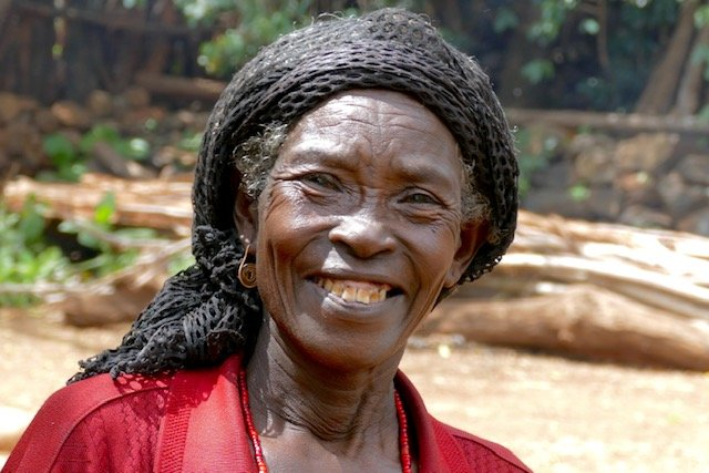 Smiling Konso woman