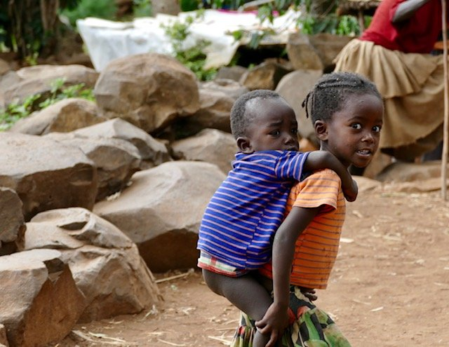 Konso children
