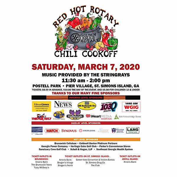 2020 Rotary Red Hot Chili Cookoff poster