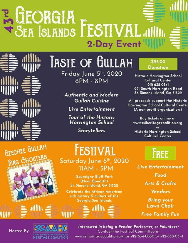 2020 Georgia Sea Islands Festival