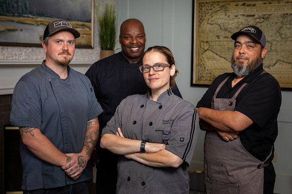 Chefs Justin Crews, Conrad Scales, Andrea Griffith and Willie Fabie